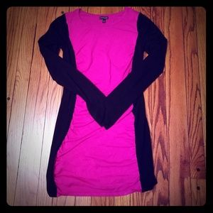 Express Black & Pink Sweater Dress S